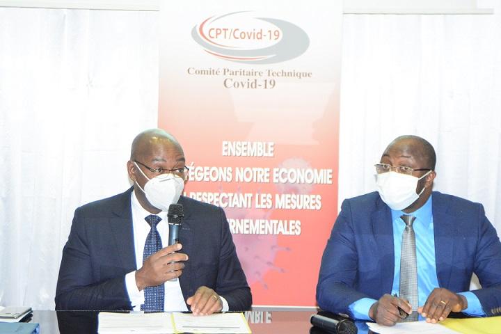 Table de séance du Comité Paritaire technique du Vendredi 26 Juin 2020 à l'Immeuble Sciam à Abidjan-Plateau